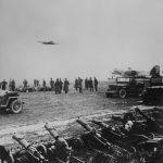 Rota ťažkých guľometov na poľnom letisku pri Krosne